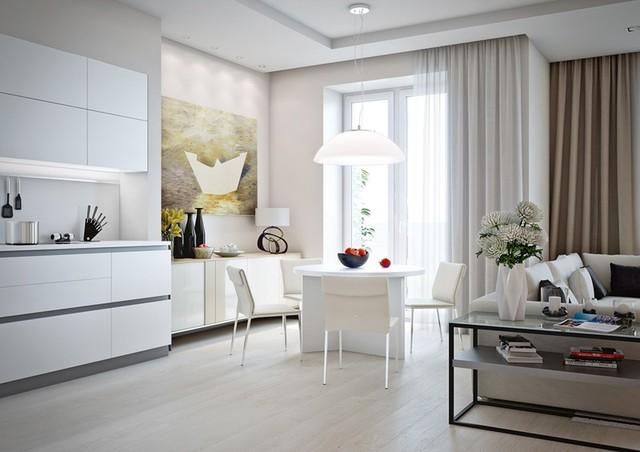 Mẫu căn hộ đẹp có phòng khách liền kề nhà bếp - Ảnh 5.