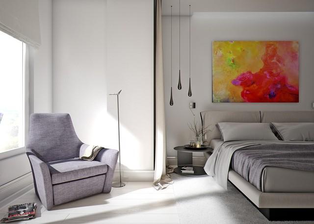 Mẫu căn hộ đẹp có phòng khách liền kề nhà bếp - Ảnh 8.
