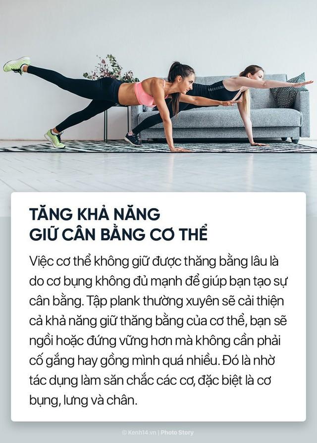 Không chỉ giúp săn chắc cơ bụng, đẩy bay mỡ thừa mà plank còn nhiều lợi ích tuyệt vời khác với cơ thể chúng ta - Ảnh 8.
