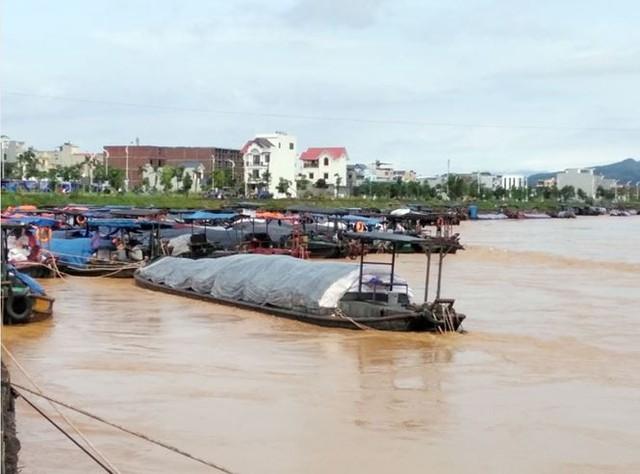 Mưa lớn ở Móng Cái, nhiều đò sắt bị nhấn chìm trong lũ - Ảnh 1.