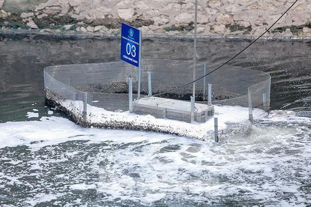 Nước sông Tô Lịch ra sao sau 10 ngày thí điểm bảo bối của Nhật? - Ảnh 9.