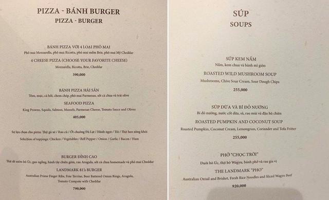 """Phở """"chọc trời"""" 920.000 đồng/bát, burger đỉnh cao 790.000 đồng/chiếc - Ảnh 1."""