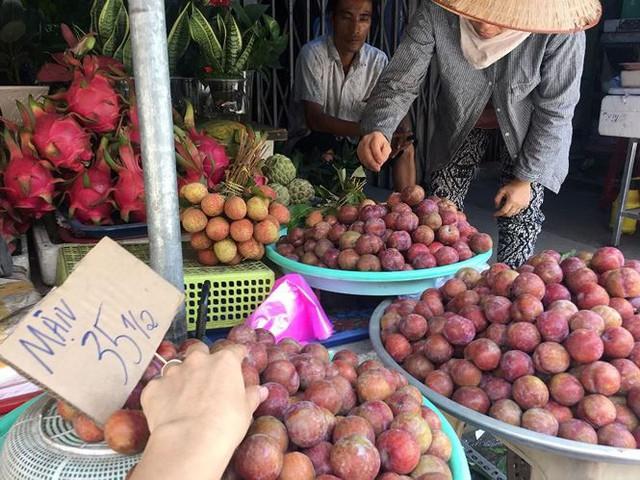 Mận hậu giá rẻ bán ngập chợ Sài Gòn - Ảnh 1.