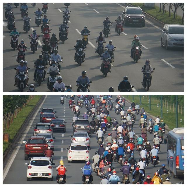 Thả xe máy vào làn ô tô, đường nội đô đẹp nhất Sài Gòn vỡ tổ - Ảnh 6.