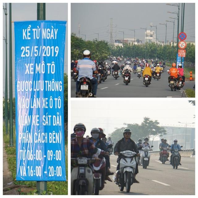 Thả xe máy vào làn ô tô, đường nội đô đẹp nhất Sài Gòn vỡ tổ - Ảnh 7.