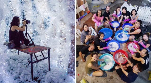 Từ rác thải nhựa trên khắp thế giới, nghệ sĩ thị giác đã biến chúng thành những tác phẩm nghệ thuật khiến ai cũng phải xuýt xoa trầm trồ - Ảnh 11.