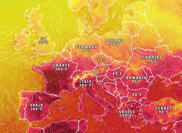 """Ảnh: Châu Âu quay cuồng trong đợt nắng nóng kỷ lục như """"địa ngục"""" - Ảnh 2."""