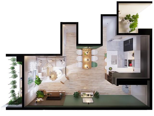 Căn hộ 3 phòng ngủ, sở hữu những mảng xanh tinh tế - Ảnh 13.