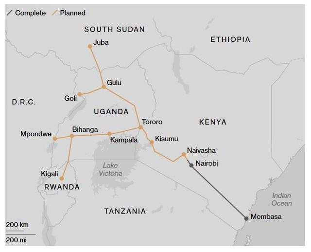 """Thảm cảnh đường sắt Trung Quốc xây ở Kenya: Lơ lửng giữa """"hư không"""""""