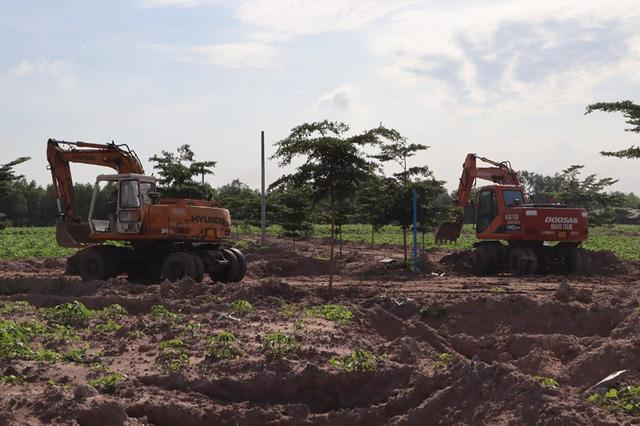 Cưỡng chế đường xây dựng trái phép trên đất nông nghiệp - Ảnh 3.