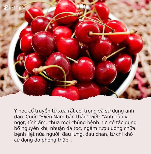 """Cherry """"đắt xắt ra miếng"""", nếu biết hết tác dụng vi diệu của quả này dám cá nhiều người sẽ không tiếc tiền mua ăn - Ảnh 4."""