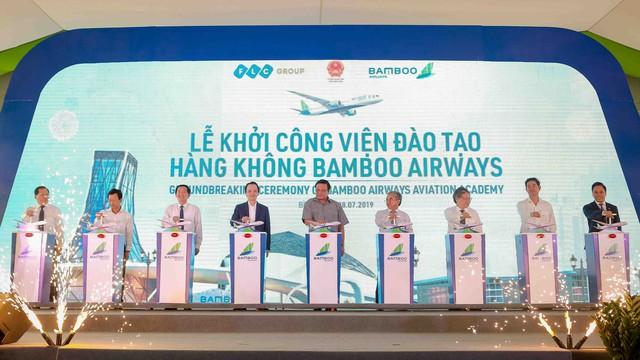 Chính thức khởi công xây dựng Viện đào tạo Hàng không Bamboo Airways  - Ảnh 1.