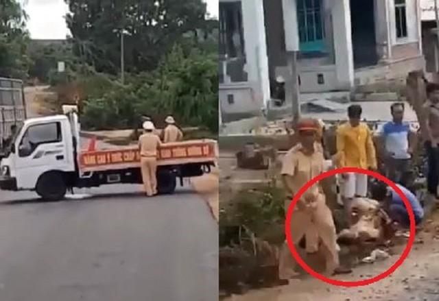 Bị truy đuổi, tài xế liều mạng tông thẳng vào xe CSGT chặn đường ở Gia Lai: Tạm giữ 3 nghi can - Ảnh 1.