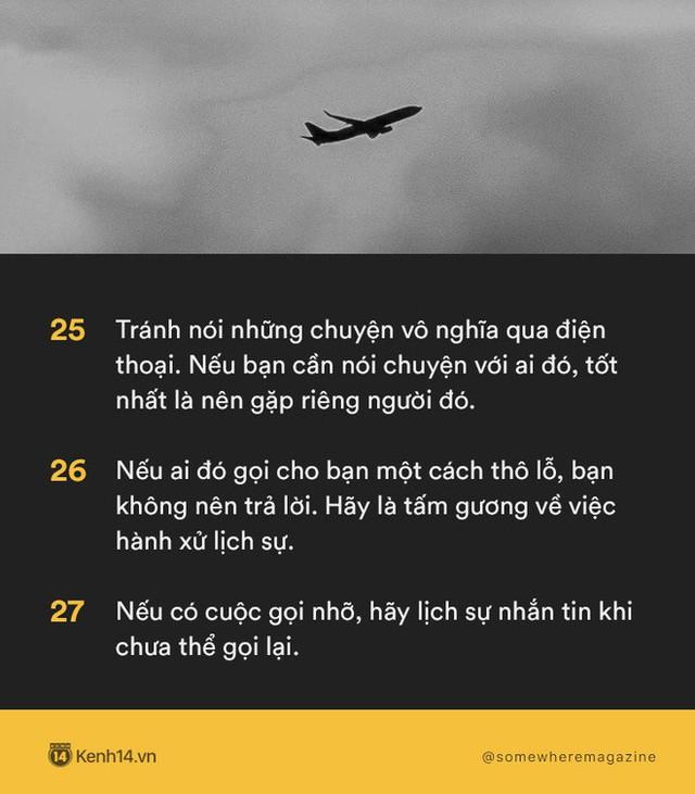 Không cần biết nhiều chỉ cần biết điều: Nằm lòng 30 quy tắc để không bao giờ biến mình thành kẻ bất lịch sự - Ảnh 7.