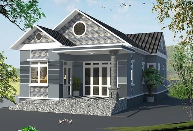 Mẫu nhà cấp 4 gác lửng mái Thái đẹp miễn chê chỉ 200- 300 triệu đồng - Ảnh 1.