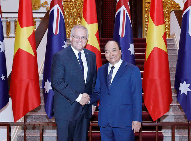 Thủ tướng đón, hội đàm với Thủ tướng Australia Scott Morrison - Ảnh 11.
