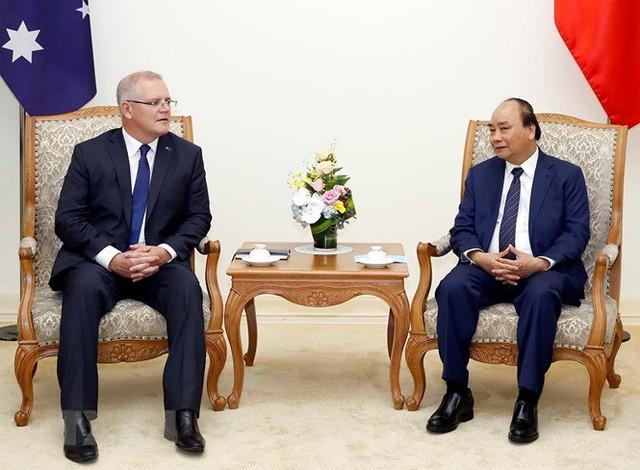Thủ tướng đón, hội đàm với Thủ tướng Australia Scott Morrison - Ảnh 12.