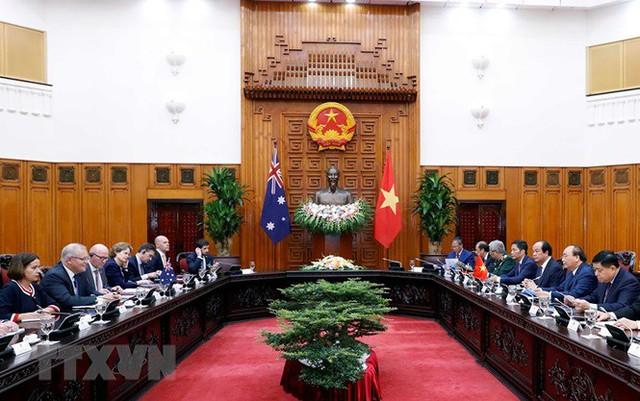 Thủ tướng đón, hội đàm với Thủ tướng Australia Scott Morrison - Ảnh 13.