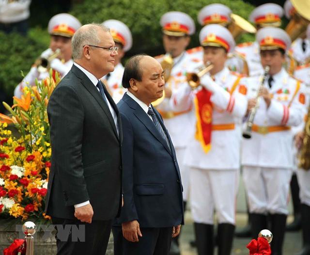 Thủ tướng đón, hội đàm với Thủ tướng Australia Scott Morrison - Ảnh 7.