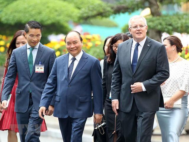 Thủ tướng đón, hội đàm với Thủ tướng Australia Scott Morrison - Ảnh 10.