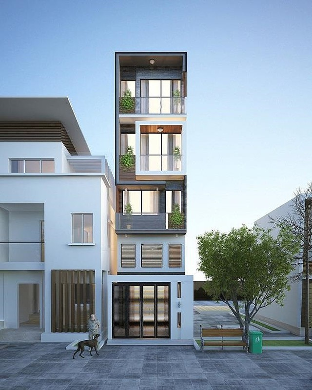 Biến tấu nhà phố mặt tiền 3m thành nơi ở cực đẹp, rộng không ngờ - Ảnh 1.