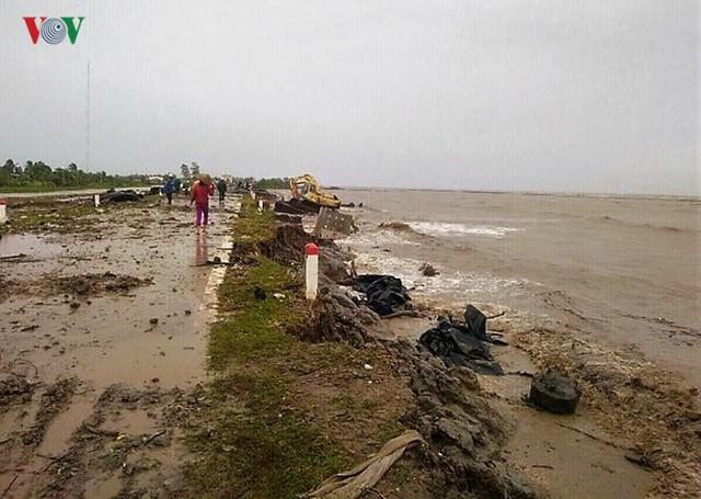 Hiện trường sau cơn thủy triều khủng khiếp tại Cà Mau - Ảnh 1.