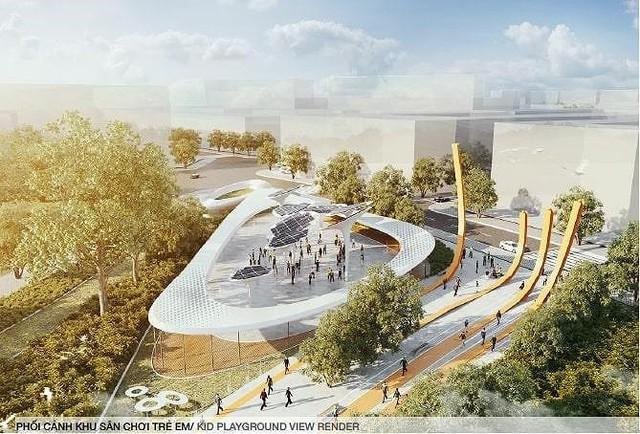Hình hài Công viên 23-9 qua hai thiết kế đoạt giải - Ảnh 2.