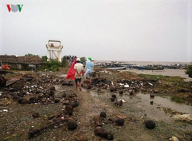 Hiện trường sau cơn thủy triều khủng khiếp tại Cà Mau - Ảnh 14.