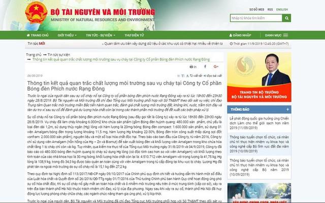 Lãnh đạo Tổng Cục Môi trường xác nhận bỏ một số câu chữ trong bản tin kết quả quan trắc vụ Rạng Đông vì nhạy cảm - Ảnh 1.