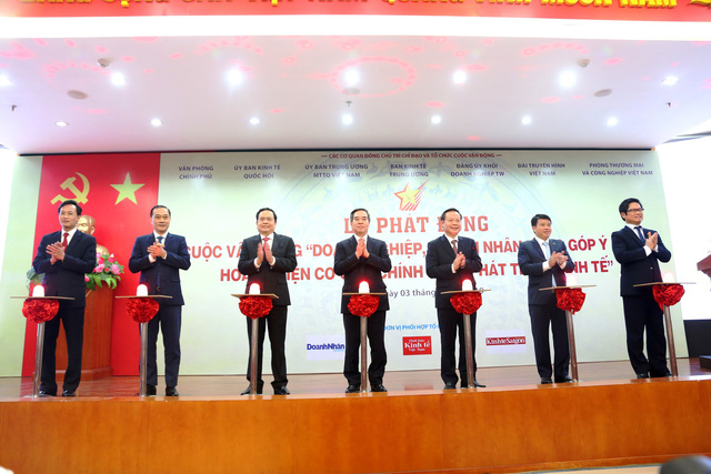 Ông Vũ Tiến Lộc: Lần đầu tiên Đảng, Nhà nước tổ chức cuộc vận động quy mô lớn để lắng nghe ý kiến cộng đồng doanh nghiệp - Ảnh 1.