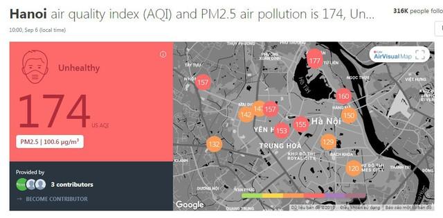 Hôm nay Hà Nội lại là thành phố ô nhiễm không khí nhất thế giới: Chỉ số AQI lên tới 190, vượt xa cả Bắc Kinh lẫn Jakarta! - Ảnh 2.