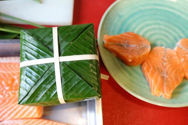 Hơn nửa triệu đồng một cặp bánh chưng trà xanh nhân cá hồi Na Uy - Ảnh 8.