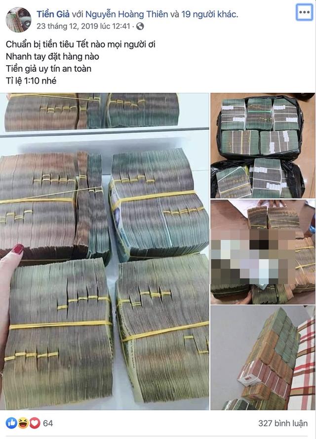 Ngang nhiên rao bán tiền giả trên mạng xã hội những ngày cận Tết - Ảnh 1.