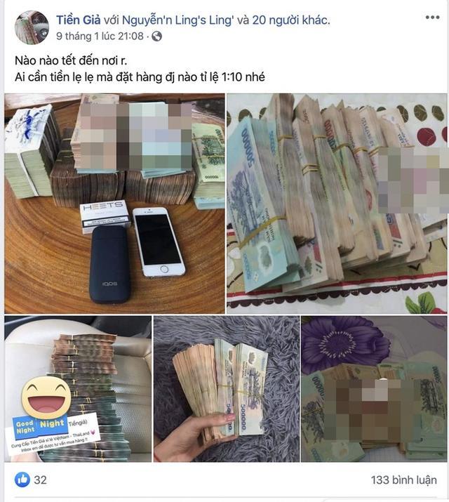 Ngang nhiên rao bán tiền giả trên mạng xã hội những ngày cận Tết - Ảnh 2.