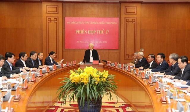 Tổng Bí thư, Chủ tịch nước chủ trì phiên họp về phòng chống tham nhũng - Ảnh 7.