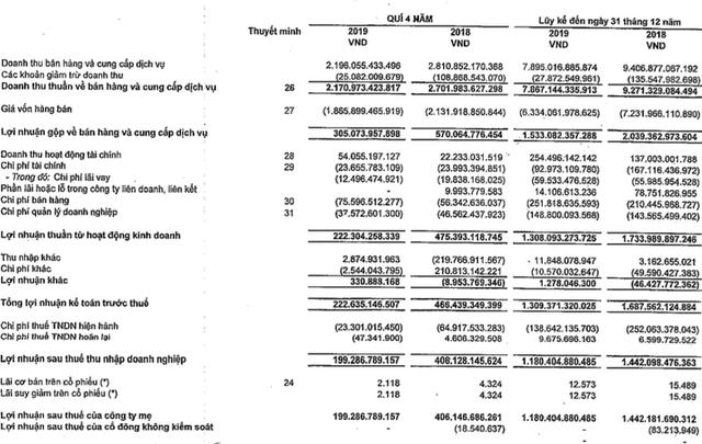 Vĩnh Hoàn (VHC) giảm 18% lãi ròng về 1.180 tỷ, thực hiện 96% chỉ tiêu 2019 - Ảnh 1.