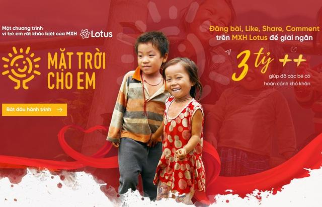 Khai thiện đầu năm: Cùng MXH Lotus làm từ thiện kiểu mới - Ảnh 2.