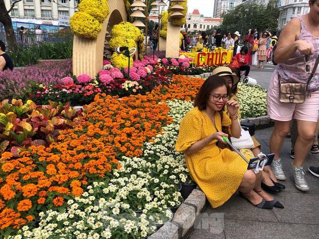 Vì sao tiểu cảnh ở phố đi bộ Nguyễn Huệ tả tơi - Ảnh 17.