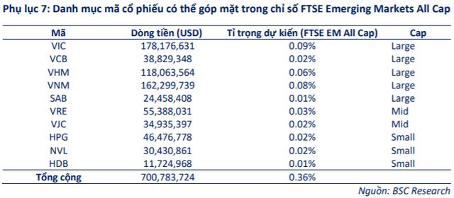 Những cổ phiếu Việt Nam nào có cơ hội lọt rổ FTSE Emerging Markets All Cap? - Ảnh 1.
