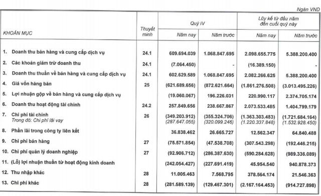 Tái cấu trúc quyết liệt, Hoàng Anh Gia Lai tiếp tục báo lỗ sau thuế hơn 1.609 tỷ đồng trong năm 2019 - Ảnh 1.