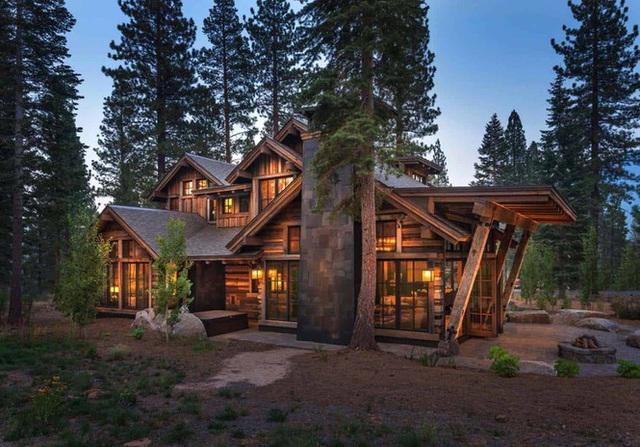 Ngôi nhà gỗ trên núi tuyệt đẹp, ai nhìn cũng thích mê - Ảnh 2.