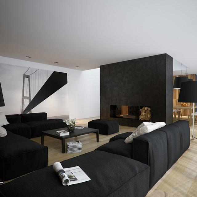 Căn hộ nội thất màu đen vô cùng huyền bí và sang trọng - Ảnh 3.
