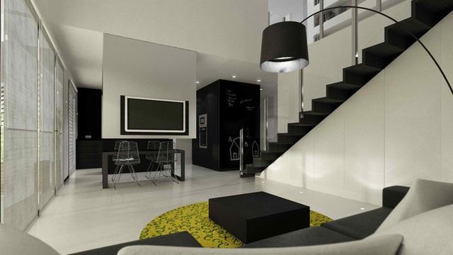Căn hộ nội thất màu đen vô cùng huyền bí và sang trọng - Ảnh 6.