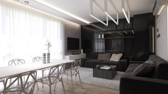 Căn hộ nội thất màu đen vô cùng huyền bí và sang trọng - Ảnh 9.