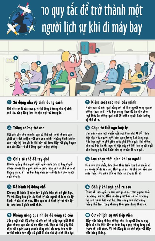 Đọc ngay 10 quy tắc này để chúng ta không trở thành người bất lịch sự khi đi máy bay - Ảnh 2.