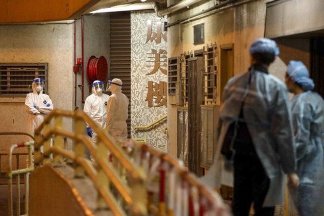 2 ca nhiễm virus corona cùng khu nhà, Hồng Kông sơ tán chung cư trong đêm - Ảnh 1.