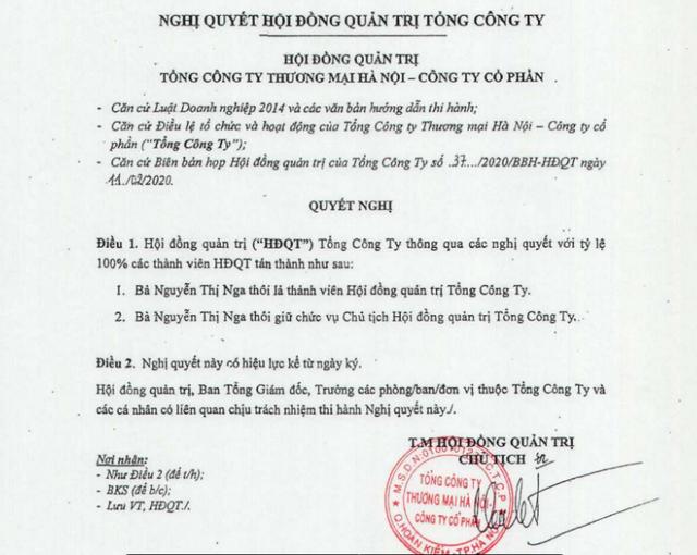 Bà Nguyễn Thị Nga rời ghế Chủ tịch HĐQT Hapro - Ảnh 1.