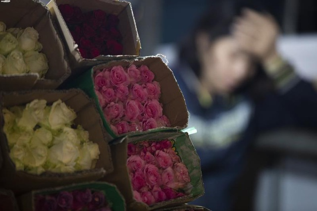 Ảnh: Chợ hoa ngày Valentine hiu hắt, giá rớt thảm hại - Ảnh 3.