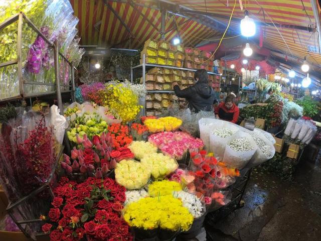 Ảnh: Chợ hoa ngày Valentine hiu hắt, giá rớt thảm hại - Ảnh 7.