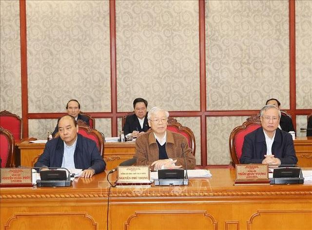Chùm ảnh Tổng Bí thư, Chủ tịch nước chủ trì họp Bộ Chính trị  - Ảnh 1.